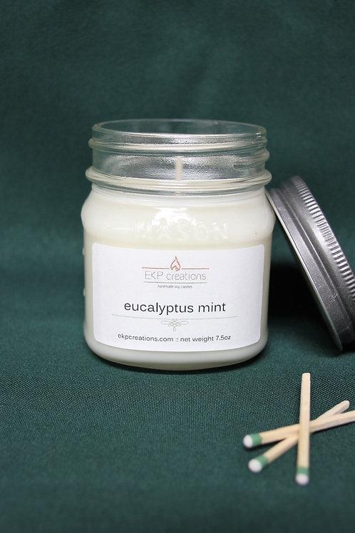 Eucalyptus Mint 8 oz. Mason Jar Candle