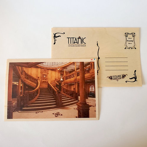 Grand Staircase Wooden Postcard