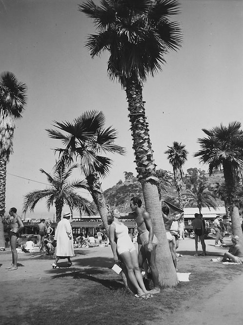 By the Beach Vintage Photo No. 007