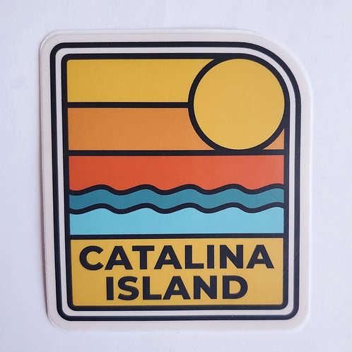 Retro Catalina Sunset Sticker
