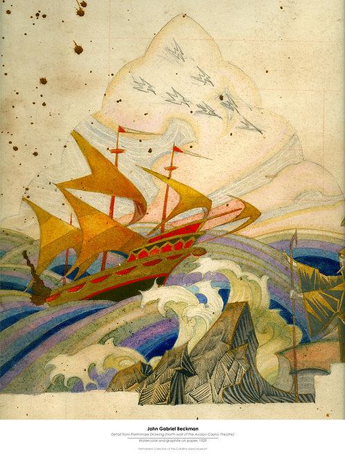 John Gabriel Beckman Poster, North Wall Galleon
