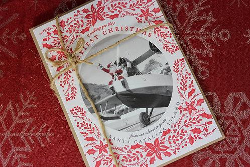 Seaplane Santa Letterpress Card Set