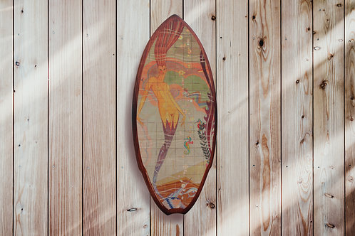 Casino Mermaid Mini Surfboard