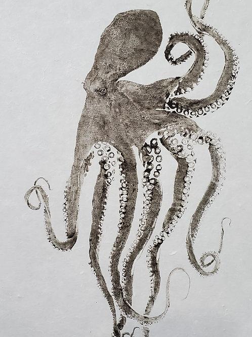 Large Octopus + Washi Print