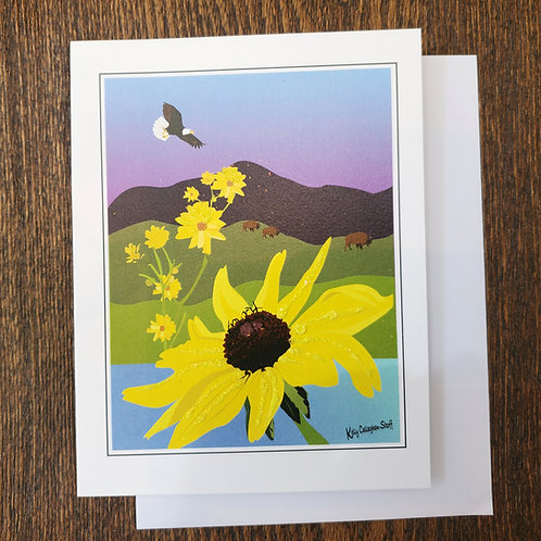 Catalina Bush Sunflower Notecard