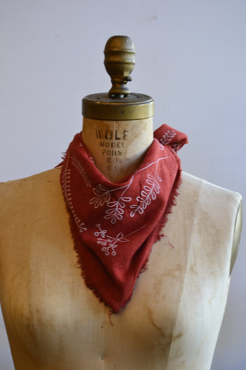 Red Poppy Naturally Dyed Scarf