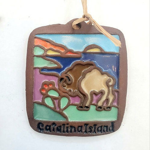 Tile Ornament: Bison