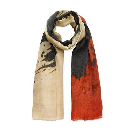 Red and Black Silhouette Scarf