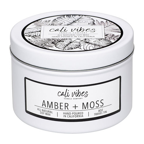 Amber + Moss - 8oz Travel Tin Candle