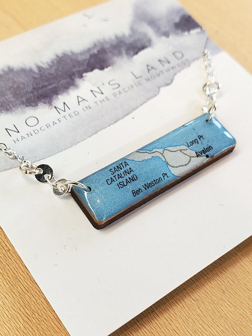 Catalina Map Necklace