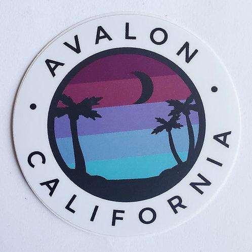 Avalon Night Palms Sticker