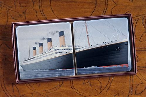 Daytime Titanic Marble Coaster Set