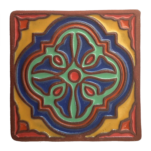 6X6 Topanga Keyhole Blue Tile
