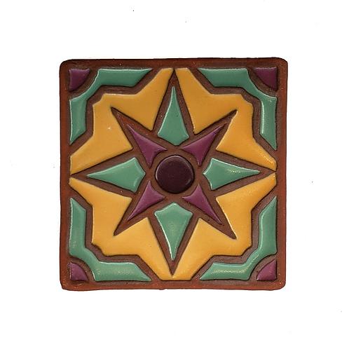 4x4 Topanga Star Yellow Tile