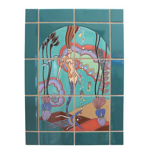 Casino Mermaid Tile Mural (unassembled)