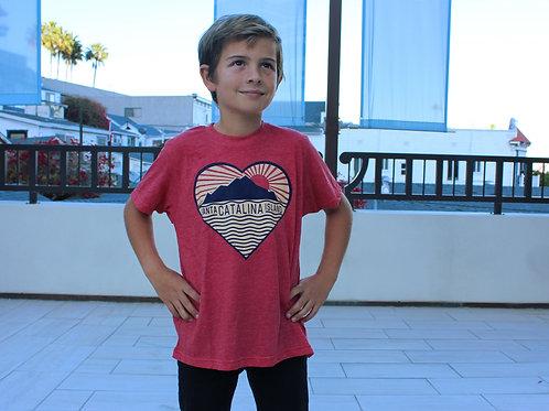 Catalina Island Heart Youth Tee