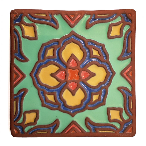 6x6 Topanga Lotus Green Tile