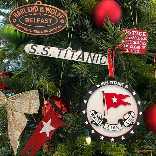 Titanic Ornament Set of 5