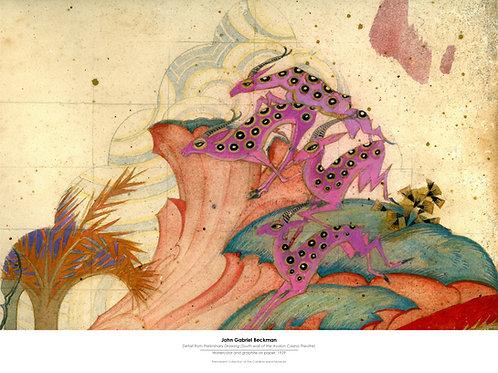 John Gabriel Beckman Poster, South Wall Antelope
