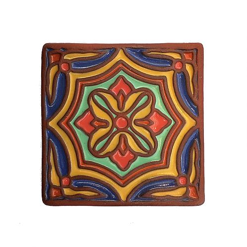 4x4 Topanga Octo Blue Tile
