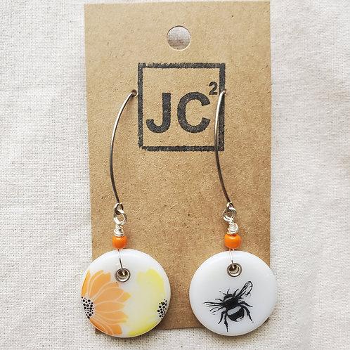 Glass Art Earrings No. 7