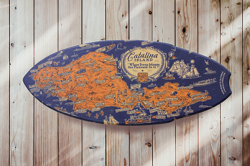 Map of Catalina Mini Surfboard