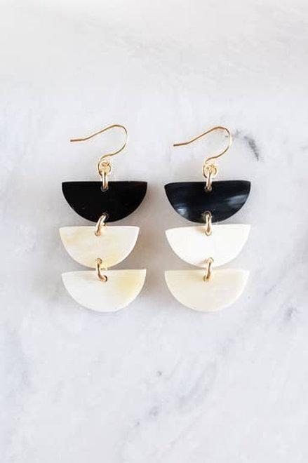Crescent Buffalo Horn Earrings