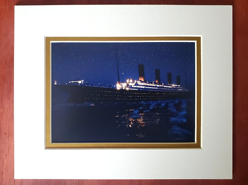 Night Titanic Matted Print