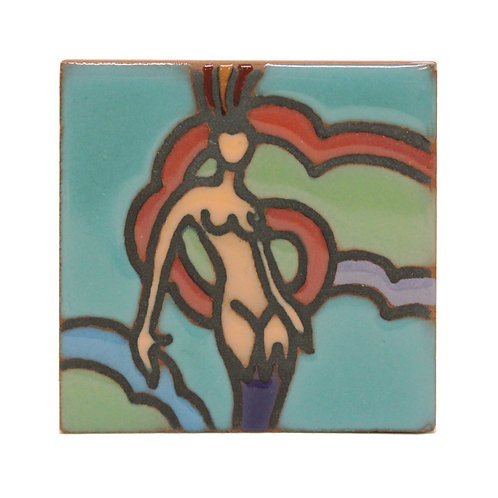 Casino Mermaid Tile Magnet