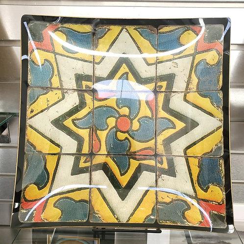 Vintage Glass Tile Serving Dish