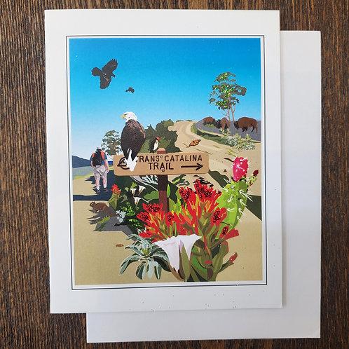 Trans Catalina Trail Notecard