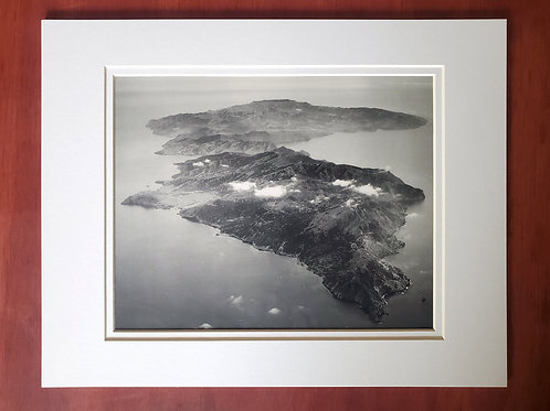 Aerial West End Catalina Matted Print