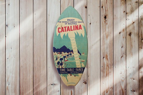 Catalina Palm Tree Mini Surf Board