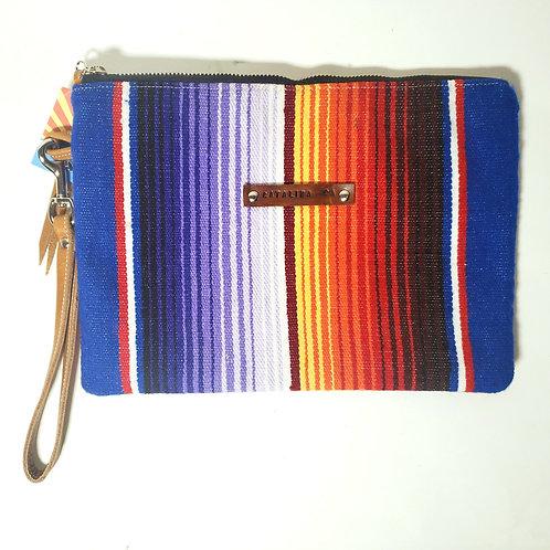Multi-colored Serape Clutch Bag