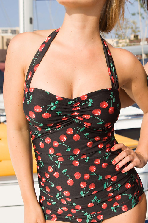 Classic Sheath Swimsuit Cherries