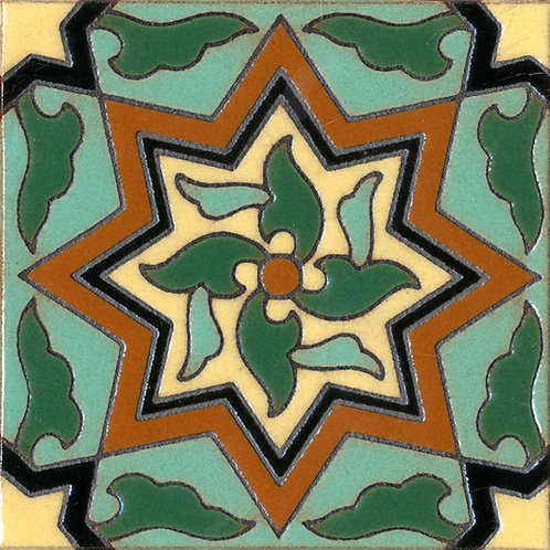 6x6 Pinwheel Deco Gloss Green