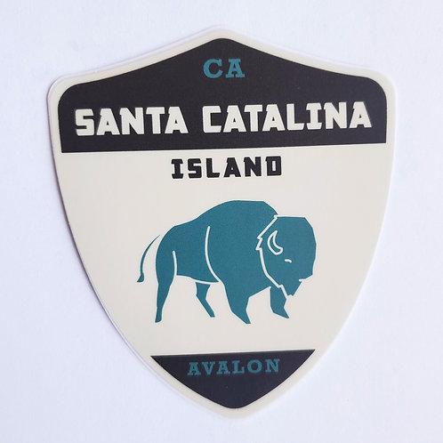 Catalina Bison Sticker