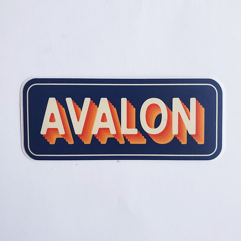 Retro Typography Avalon Sticker