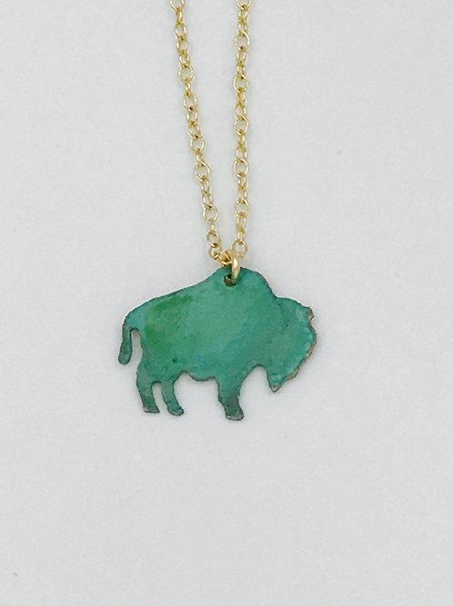 Buffalo Patina Necklace