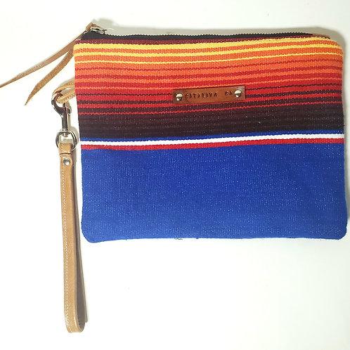 Ocean Sunset Serape Clutch Bag