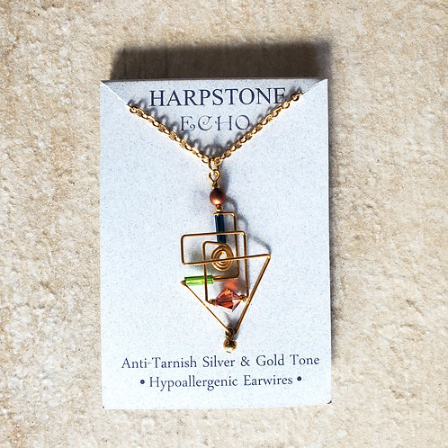 Frank Lloyd Wright inspired Triangle Wire Necklace