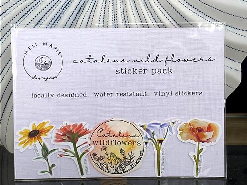 Catalina Wildflower Sticker Pack