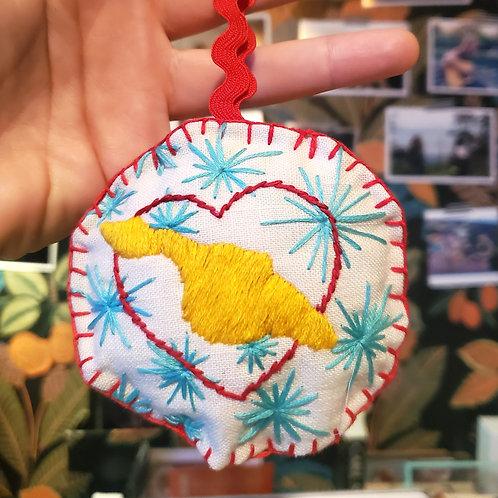 Catalina Island Embroidered Ornament