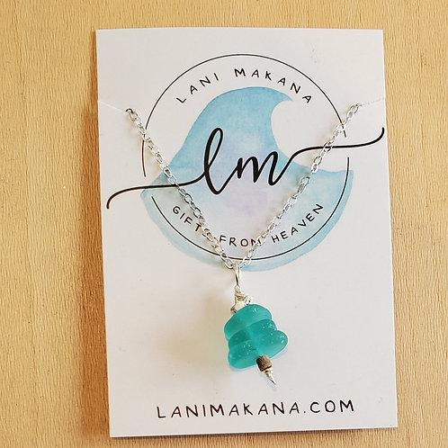 Sea Glass Tree Necklace