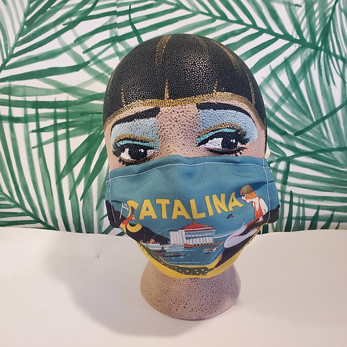 Vintage Catalina Travel Ad Face Mask
