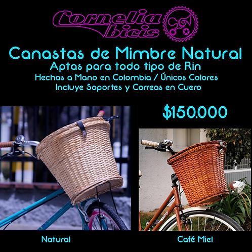 Canasta de Mimbre Natural CaféMiel /Claro
