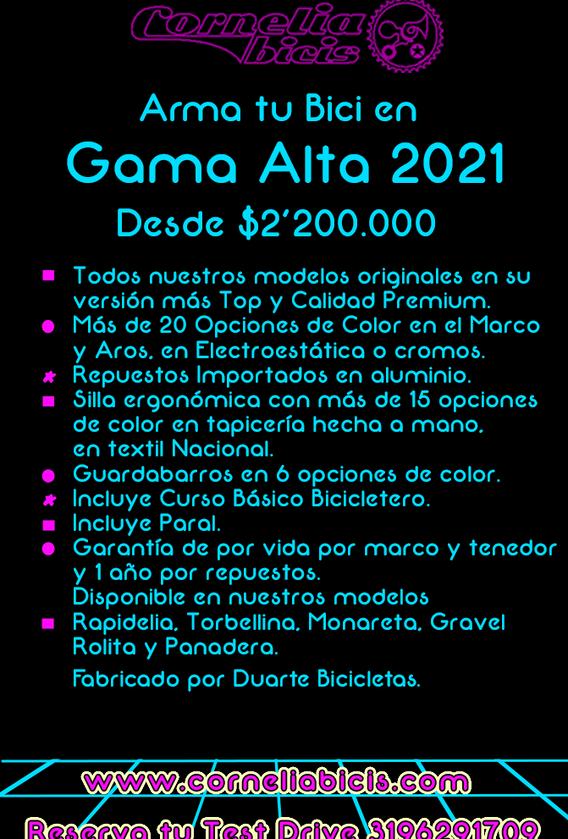 Plantilla Gama Alta 2021