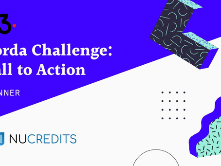 Nu-Credits Wins R3's Global 'Corda Challenge: Call to Action'