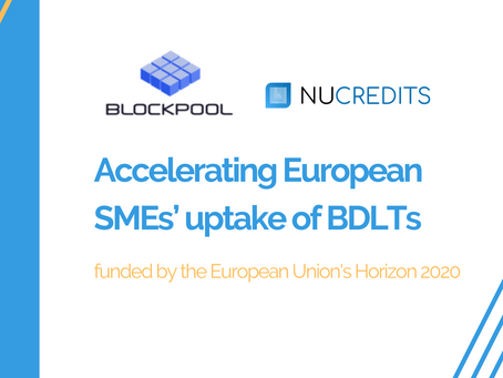 Nu-Credits in Blockpool acceleration program– Pooling SME adoption and deployment of BDLTs