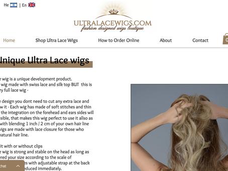 אתר וויקס חדש לפאות אולטרה לייס